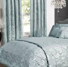 charleston duck egg cream jacquard bed linen collection