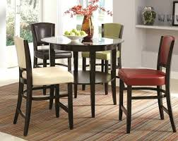 square glass top counter height dining table set round kitchen tables chairs resort home exciting chai