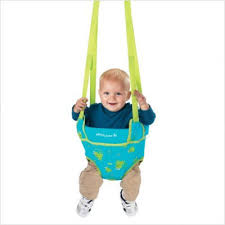 Johnny Jump Up Classic in Frog Modern Baby Swings And, baby door ...
