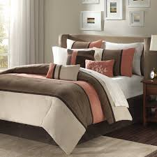 com palisades 6 piece duvet cover set brown king cal king home kitchen