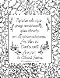 Gratitude Bible Verse Coloring Pages