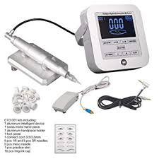 boermeize aluminum intelligent digital tattoo permanent makeup machine kit device intelligent machine that can adjust sd
