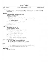 Sample Resume: Sle Resume Football Coaching Templatesresume Template.