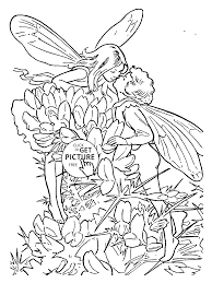 Small Picture Flower Fairies Gorse coloring page for kids for girls coloring
