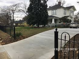 wrought iron fence victorian. A Custom Hoop And Picket Victorian Style Wrought Iron Fence R