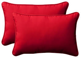 Pillow Perfect Solid Rectangular Throw Pillows Set of 2