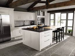 white cabinets grey floors. Contemporary Cabinets White Shaker Kitchen Cabinets With Grey Floor Intended Floors