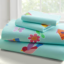 girls twin sheet set blue owl bed sheet set for girls toddler twin or full birds flowers