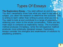 how to write essays some helpful tips contents cut the waffle types of essays the exploratory essay you start out an end in mind