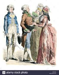 traditional costumes of men and women of the late th stock photo traditional costumes of men and women of the late 18th century