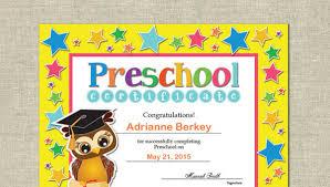 free preschool certificates preschool certificate template 16 free word pdf psd