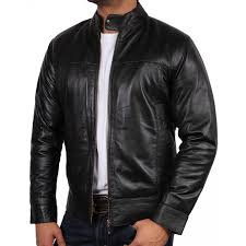 men s black leather jacket bradley