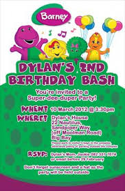 barney party invitation template reserved for diamondwaldron barney theme birthday party treat