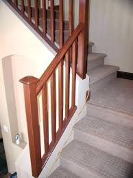 modern wood stair railing for staircase stairs stunning handrail metal wooden design
