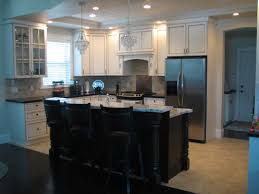 Kitchen Bar Table And Stools Decorating Mini Bar In The Kitchen Idea With Black Freestanding