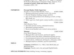 Stylish Bank Teller Resume Skills Breathtaking How To Write A