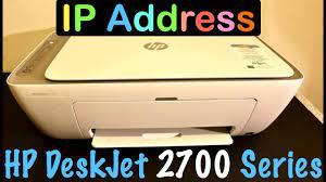 How to find IP Address of HP DeskJet 2700 series printer ? - YouTube