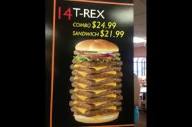 Wendys Nine Patties 3000 Calorie T Rex Burger Nixed By