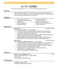 Free Teacher Resume Builder Free Teachere Templates Download Archaicawful Australia Computer 6