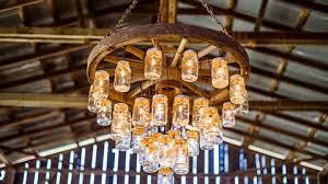 agave 5 light wagon wheel chandelier brilliant wagon wheel chandelier made with mason jars