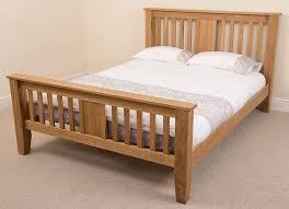 Boston 5ft Solid Oak King-size Bed Frame (220 x 164 x 110 cm) Bedroom Furniture