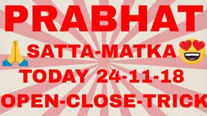 Prabhat Guessing Chart Prabhat Satta Matka Today 31 08 2018 Open To Close Jodi