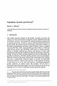 population growth and poverty springer the impact of population growth on well being in developing countries