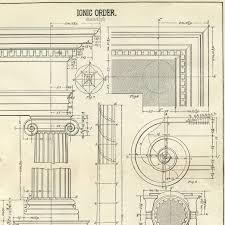 Architecture Printable Ionic Diagram The Graphics Fairy