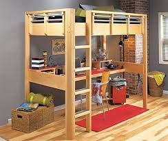 Diy Loft Bed Plans With Stairs And Desk Home Desain 2018