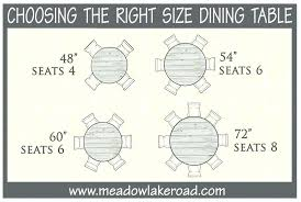 60 round table seating round table seating size choosing the right size dining table what size 60 round table seating