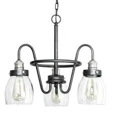 crofton collection 3 light rustic pewter chandelier with brushed