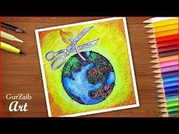 How To Draw World Population Day Poster Chart Drawing For