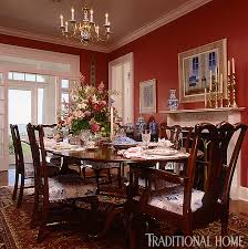 Traditional dining room furniture Classic English Enlarge Rick Taylor Dramatic Red Dining Room Traditional Home Magazine 25 Years Of Beautiful Dining Rooms Traditional Home