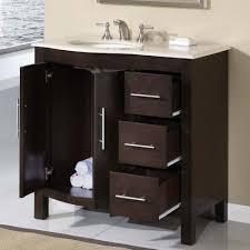 bathroom vanity black wooden cabinet drawers marble