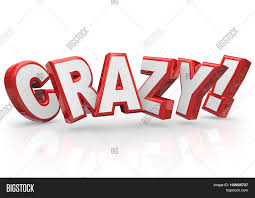 Word In Red Crazy Word Red 3d Image Photo Free Trial Bigstock