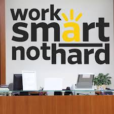 office wall stickers. Work Smart Quote Wall Sticker Office Stickers