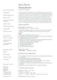 Example Of A Nursing Resume Best Curriculum Vitae Examples Nursing Template Nurse Resume Sample