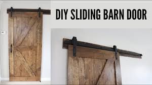 how to hand a sliding barn door