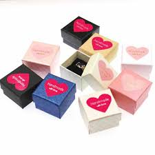Decorative Ring Boxes 60sets multi color jewelry ring box cardboard jewelry gift box 57