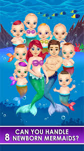 mermaid salon make up doctor kids games free screenshot 1