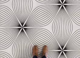 fl line flower line pattern vinyl flooring neutral