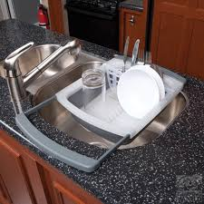 Kitchen Drying Rack For Sink Genius Style Of Over The Sink Dish Drying Rack Trends4uscom