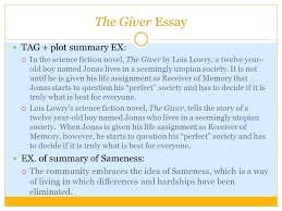 language arts writing sol how to writing prompts ppt  19 the giver essay tag plot summary ex  in the science fiction novel the giver by lois lowry a twelve year old boy d jonas lives in a seemingly