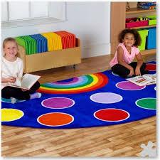 rainbow semi circle small carpet
