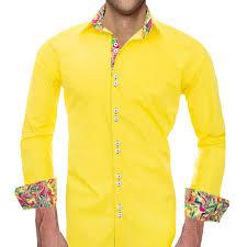Yellow Designer Shirt Mens Bright Yellow Shirts