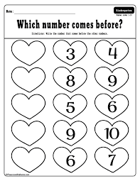 Free printable Valentine's day kindergarten worksheets bundle