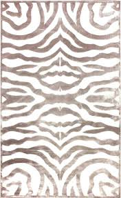 zebra print rugs brown area rug 5 off when you share velvet cream contemporary cowhide