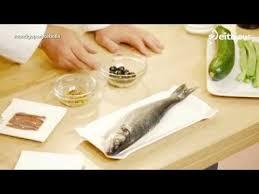 Lubina con gambones y gazpachuelo - Menú de fiesta Low Cost