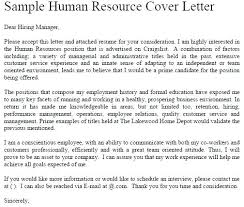cover letter to human resources writing a cover letter to human resources trezvost