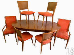 mid century modern furniture restoration. John Widdicomb J. Stuart Clingman Mid Century Dining Room Table Chairs Modern Furniture Restoration